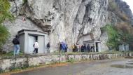 Sab. 27 ottobre 2018 - Gita sociale a Erstfeld - Rocce che ospitano le grotte di coltivazione a Erstfeld
